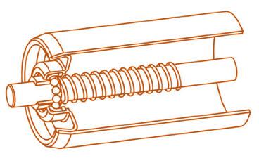 Rouleaux acier gravitaires - MSET