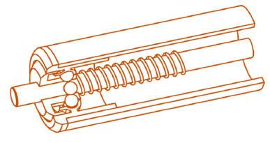 Rouleaux PVC gravitaires - MSET