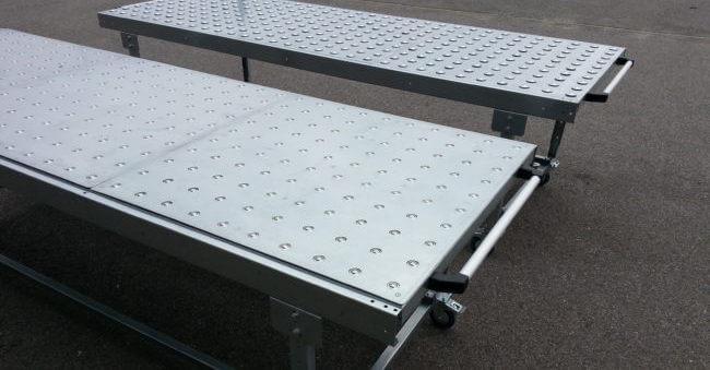 Table à billes avec sur-tôle de protection