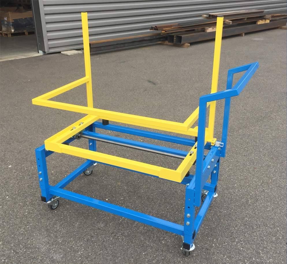 Chariot pour transport de colis spéciaux