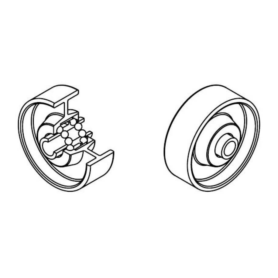 Galets diametre 48 PVC