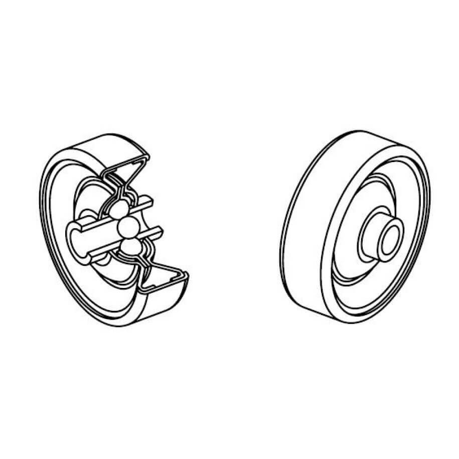 Galets diamètre 48 acier